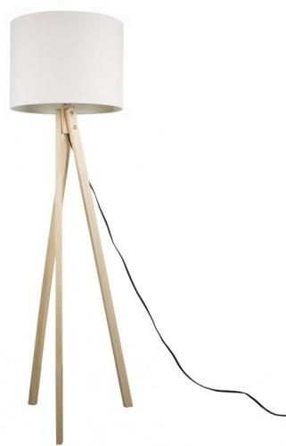 Tempo Kondela, Stojacia lampa, biela/prírodné drevo, LILA Typ 6 LS2062