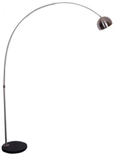 Tempo Kondela, Stojacia lampa, nehrdzavejúca oceľ/čierny mramor, CINDA Typ 15 F1034-S