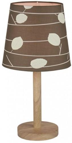 Tempo Kondela, Stolná lampa, drevo/látka vzor listy, QENNY TYP 6 LT6026
