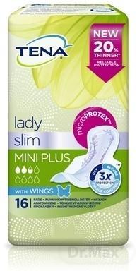TENA Lady Slim MINI PLUS WINGS absorpčné vložky 1x16 ks