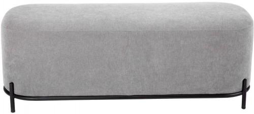 Sivý puf Tenzo Harry, šírka 122 cm
