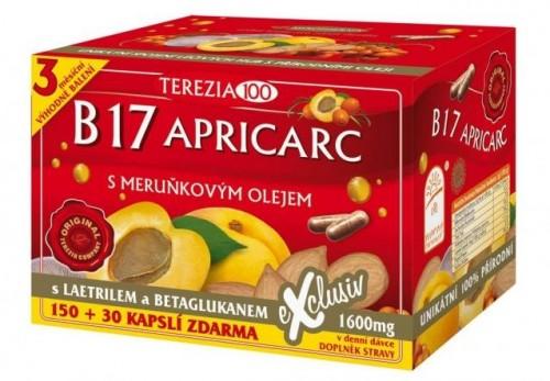 TEREZIA B17 APRICARC s marhuľovým olejom cps 150+30 (180 ks)