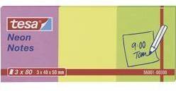 Samolepiaci blok tesa 56001-00-00, (š x v) 40 mm x 50 mm, ružová, žltá, zelená, 240 listov