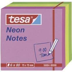 Samolepiaci blok tesa 56004-00-00, (š x v) 75 mm x 75 mm, ružová, žltá, zelená, 480 listov