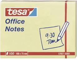Samolepiaci blok tesa 57657-00001, (š x v) 100 mm x 75 mm, žltá, 100 listov