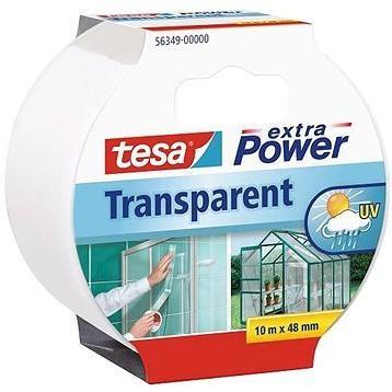 tesaExtra Power Transparent, průhledná, silně lepivá, 10m x 48m