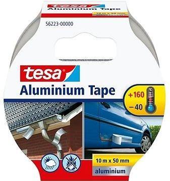 tesaHliníková, silně lepivá, stříbrná, 10m:50mm