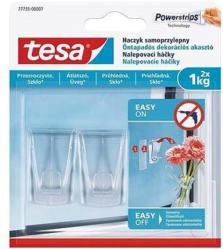 Tesa Samolepicí průhledný dekorační háček na sklo 1kg