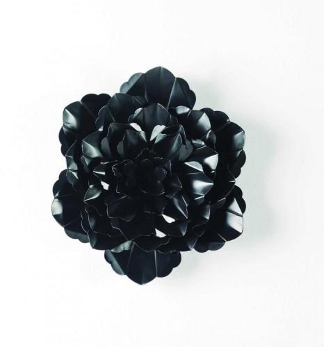 Čierna dekorácia Thai Natura Bunga, ⌀39cm