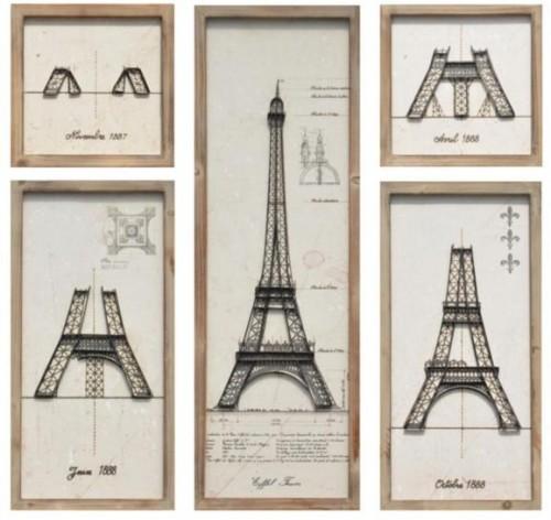 Séria obrazov Eiffel Tower 90 cm