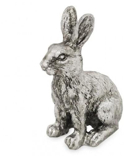 Soška zajac Silver 17 cm