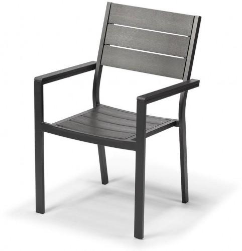 Záhradná stolička v antracitovosivej farbe Timpana Panto