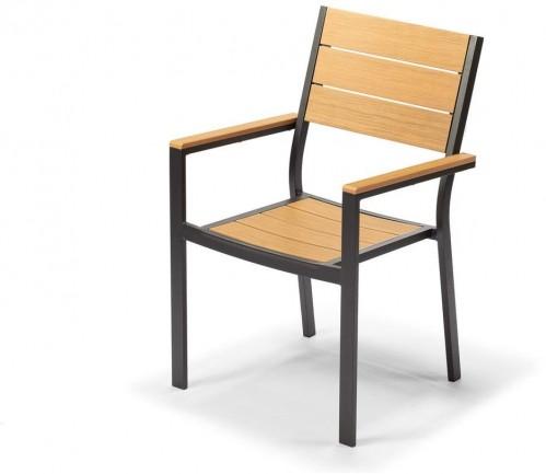 Záhradná stolička v cappuccino hnedej farbe Timpana Panto