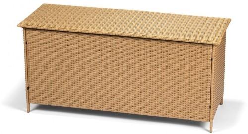 Záhradný ratanový box s úložným priestorom v hnedej farbe Timpana Galaxy, 130 x 61 cm