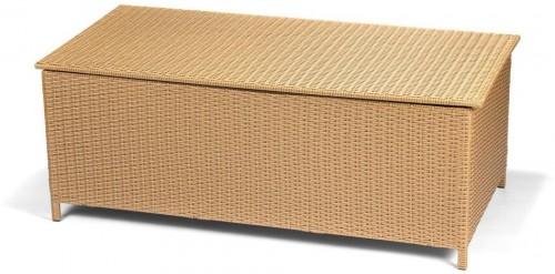 Záhradný ratanový box s úložným priestorom v hnedej farbe Timpana Galaxy 153 x 78 cm