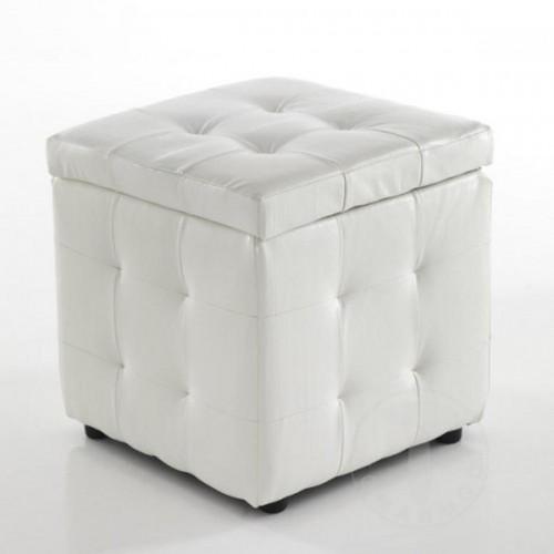 Biely puf s úložným priestorom Tomasucci Dado