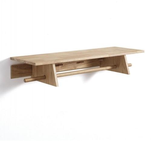 Nástenný drevený vešiak Tomasucci Rustico, 90×30×15,5 cm