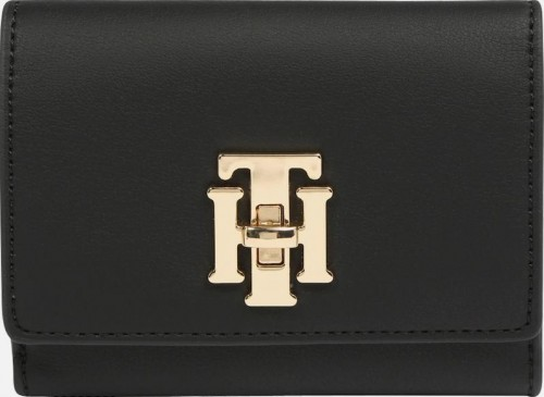 Tommy Hilfiger Dámska peňaženka Th Lock Med Flap Wall et Black