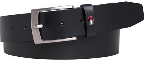 Tommy Hilfiger Pánsky kožený opasok Adan Leather 3.5 Black 100 cm