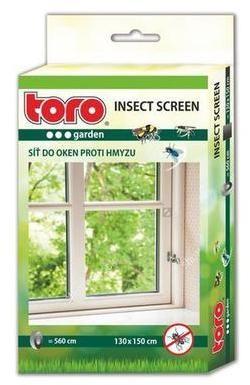 TORO Sieť okenná proti hmyzu, čierna, 130 x 150 cm