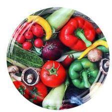 TORO Viečko na zaváracie poháre 10 ks, 66 mm, motív zelenina