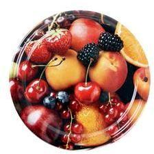 TORO Viečko Twist na zaváracie poháre 10 ks, 66 mm, motív ovocie