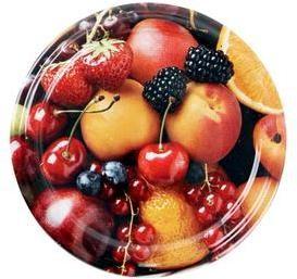 TORO Viečko Twist na zaváracie poháre 10 ks, 82 mm, motív ovocie