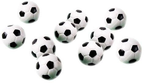 Loptičky na futbal 31 mm 10 ks