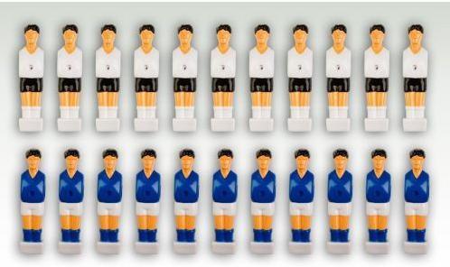 Sada 22 figúrok na stolný futbal biela, modrá