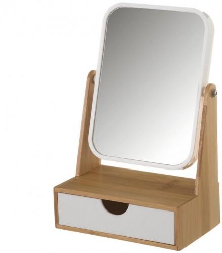 Zrcadlo na bambusovém stojane so zásuvkou Unimasa Lily
