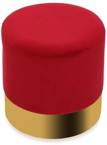 Červený puf Versa Redondo
