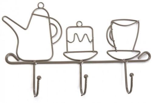 Kovový nástenný vešiak s 3 háčikmi Versa Hooks