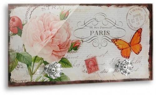 Nástenný vešiak s 2 háčikmi Versa Papillon Paris