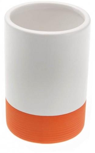Oranžový pohárik na zubné kefky Versa Tumbler, ø 7 cm