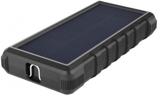 Power Bank Viking W24, 24000mAh, solární, QC 3.0, USB-C čierna