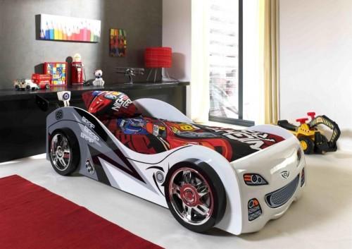 VIPACK FURNITURE Car Brap biela sivá 200x90 cm