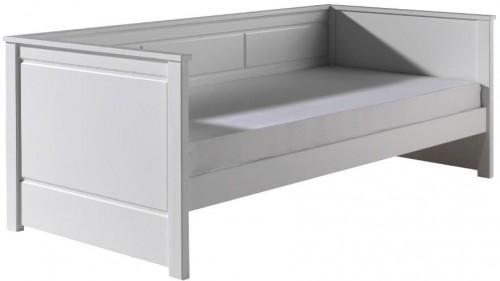 Biela detská posteľ Vipack Captain, 90 × 200 cm