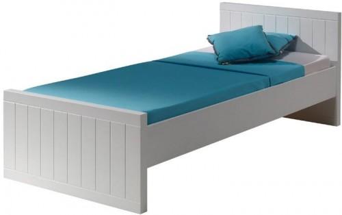 Biela detská posteľ Vipack Robin, 90×200 cm