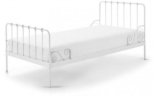 Biela kovová detská posteľ Vipack Alice, 90×200 cm