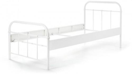 Biela kovová detská posteľ Vipack Boston, 90×200 cm