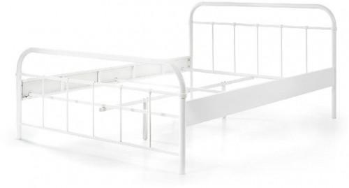 Biela kovová detská posteľ Vipack Boston Baby, 140×200 cm