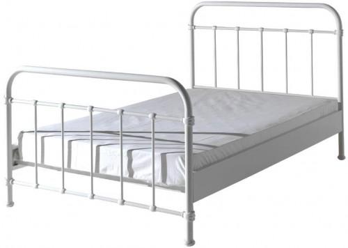 Biela kovová detská posteľ Vipack New York, 120×200 cm