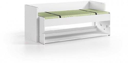 Biela multifunkčná posteľ Vipack Denver