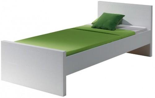 Biela posteľ Vipack Lara White, 90×200 cm