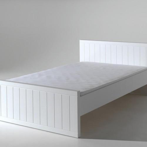 Biela posteľ Vipack Robin, 120×200 cm