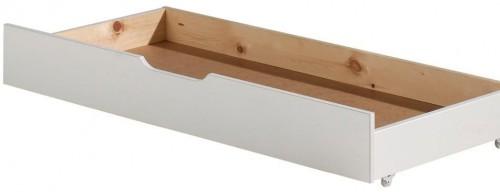 Biely úložný systém pod posteľ Jumper Vipack White, šírka 130 cm