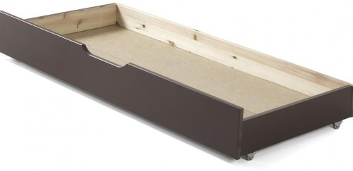Hnedý úložný systém pod posteľ Jumper Vipack, šírka 130 cm