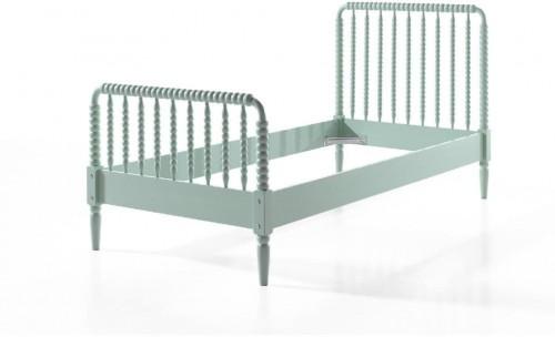Mätovozelená detská posteľ Vipack Alana, 90×200 cm