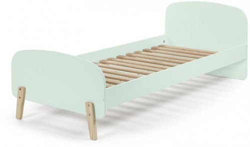Mentolovozelený rám detskej postele z masívneho borovicového dreva Vipack Kiddy, 200×90 cm