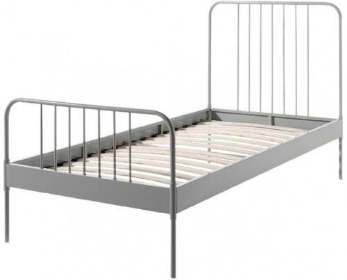 Sivá kovová detská posteľ Vipack Jack, 90×200 cm